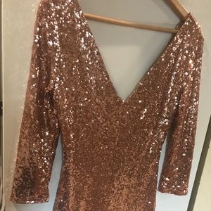 Cals Sequin Pink Dress
